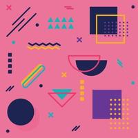 fundo abstrato com diferentes formas geométricas - ilustração vetor