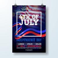 Dia da Independência do EUA Party Flyer Illustration