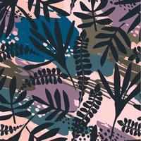 Teste padrão sem emenda floral abstrato com texturas tiradas mão na moda.