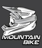 capacete de segurança para bicicleta downhill vetor