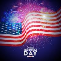 Feliz Dia da Independência da Ilustração EUA