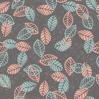 Resumo floral padrão sem emenda com folhas. vetor
