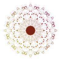 elementos decorativos vintage mandala de flor