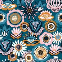 Padrão sem emenda floral popular. Design abstrato moderno vetor