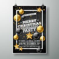 Ilustração de Flyer de festa de Natal feliz