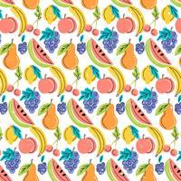 Padrão de frutas coloridas de vetor
