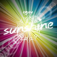 Fundo brilhante de vetor abstrato com reflexo do sol