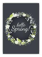 Fundo de primavera com flor colorida