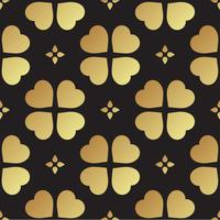Ouro padrão sem emenda com folhas de trevo, o símbolo do St. Patrick Day na Irlanda
