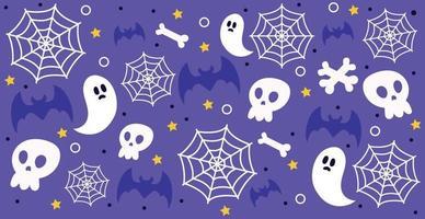 fundo colorido padrão para o feriado de halloween vetor