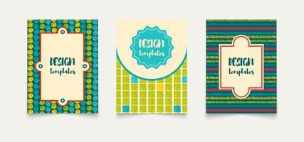 Cartões criativos étnicos de modelo.