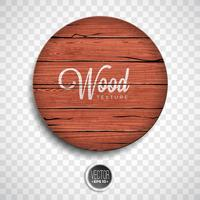 Projeto de fundo de textura de madeira vector. Ilustração de madeira vintage escura natural vetor