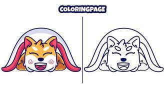 cachorrinho fofo com páginas para colorir vetor