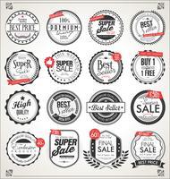 Retro vintage emblemas e etiquetas coleção vector