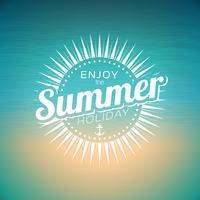 Ilustração vetorial em um tema de férias de verão