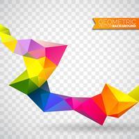 Fundo de triângulos geométricos do vetor. Desenho poligonal abstrato.