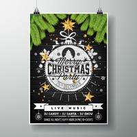 Feliz Natal festa design vetor