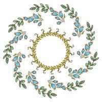 Quadro de grinalda, fronteira de ornamento floral vetor