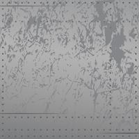 Metal angustiado com rebites, arranhões, gradientes tons suaves, ilustração vetorial de fundo vetor