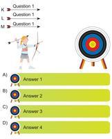 arqueiro e seta pergunta e resposta em branco modelo vetor