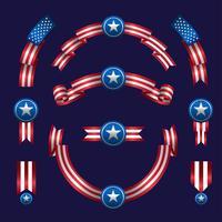 Conjunto de fita americana vetor