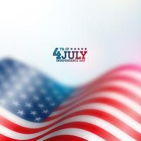 Dia da Independência do fundo Vector EUA