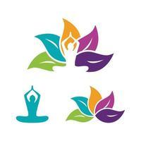 ilustração de design de ícone de vetor de ioga