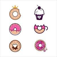ilustração de desenho de ícone de vetor donut