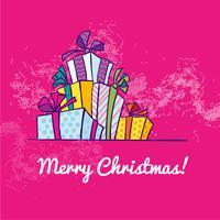 Natal da caixa de presente vetor
