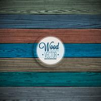 Design de fundo de textura de madeira pintada vetor