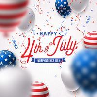 Feliz Dia da Independência da ilustração vetorial EUA