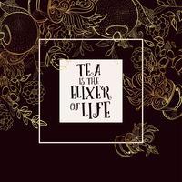 Conjunto de modelos de bandeira de design de tempo de chá