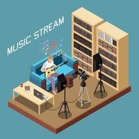 composição do stream de música vetor