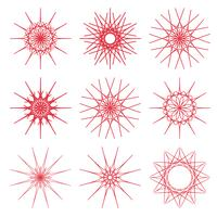 Ornamentos geométricos redondos vetor