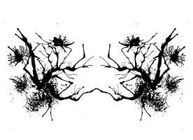 Teste de mancha de tinta Rorschach vetor