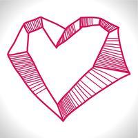 Coração agitado vetor
