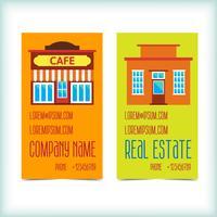 Cartões de visita imobiliária vetor