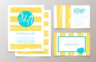 Cartões e convites elegantes bonitos vetor