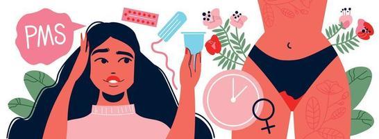 composição do tempo da síndrome pré-menstrual vetor