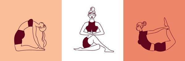 conceito de design de ioga feminina vetor
