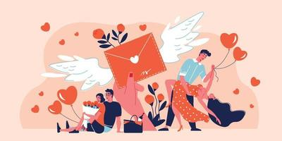 cartão de amor composição do dia dos namorados vetor