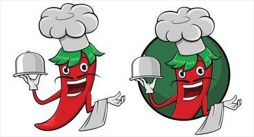 ilustração vetorial feliz clip art chili vetor