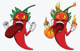 hot chili on fire expressão ilustração clip art vetor