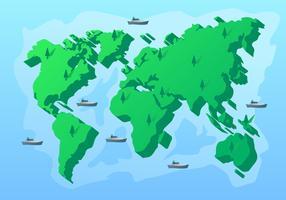 Impressionante 3d internacional mapa vetores