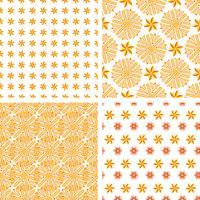 Conjunto padrão sem emenda abstrato laranja