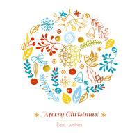 Cartão Postal Feliz Natal vetor