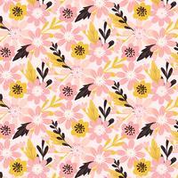 Vector mão desenhada padrão Floral