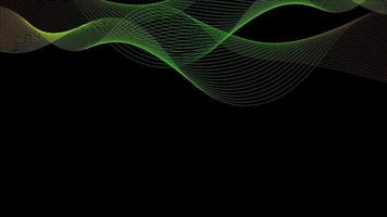 fundo abstrato da onda com base preta vetor