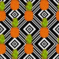 Fundo de abacaxis tropicais