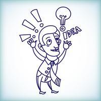 empresário dos desenhos animados vetor